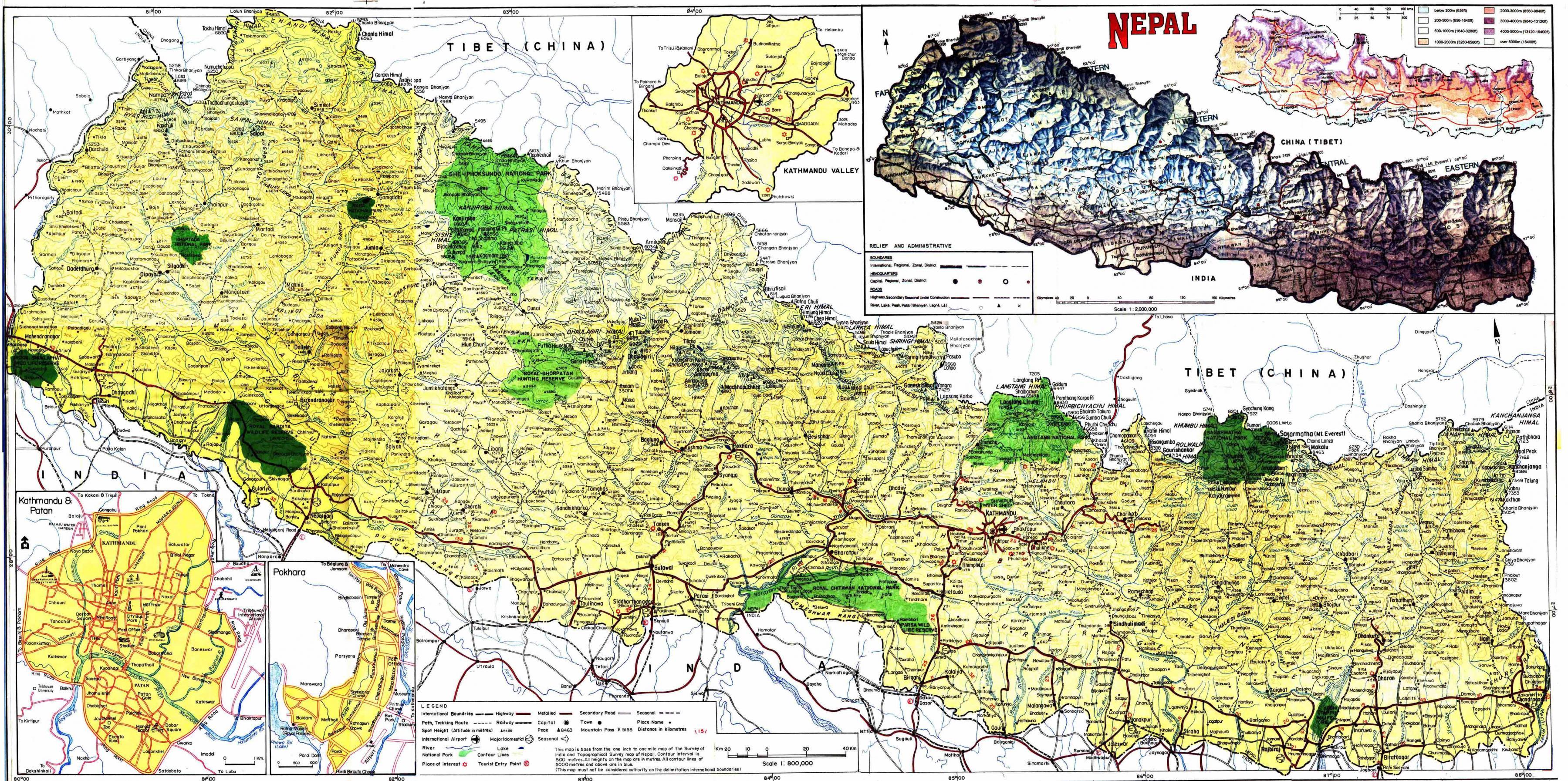 Karta Och Avstand.Nepal Karta Road Road Karta Over Nepal Med Avstandet Sodra Asien