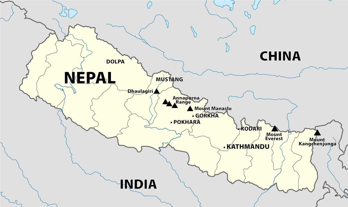 Indien Nepal Karta Indien Nepal Border Karta Sodra Asien Asien